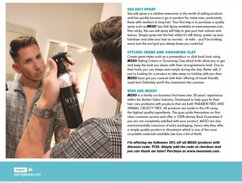 QX magine article from Tony Flyn n for Meso men