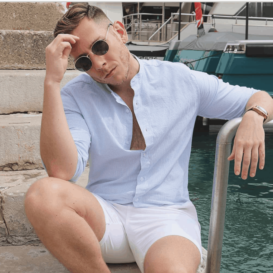 Tony Flynn in summer mode whilst modeling in the south of France
