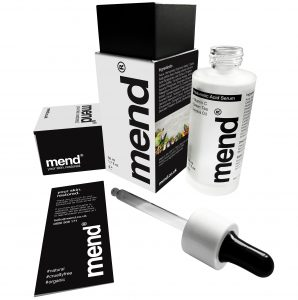 Hyaluronic-Acid-Serum skin care bottle by Mend