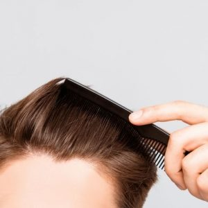 thining hair with comb
