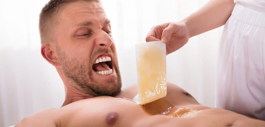manscaping with wax