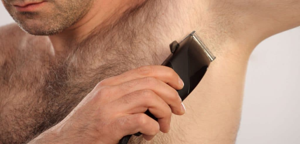 Manscaping under arms hair